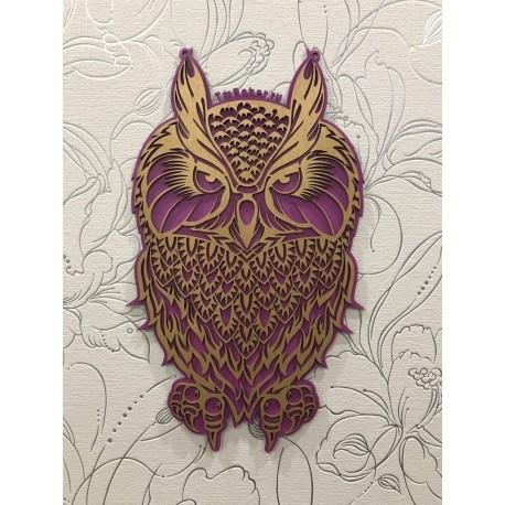 Laser Cut Decorative Plywood Owl Free CDR Vectors Art