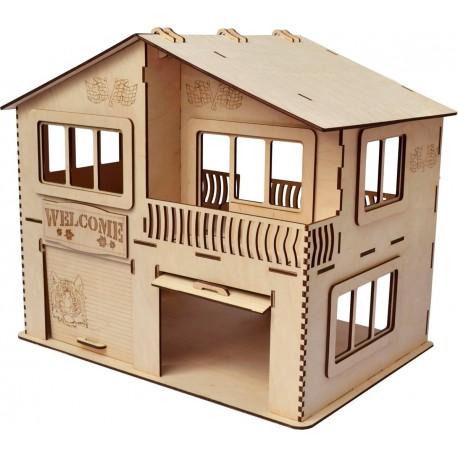 Laser Cut House Garage Template Free CDR Vectors Art