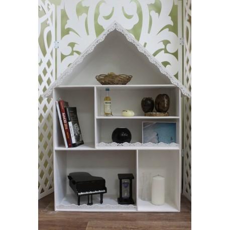 Laser Cut House Shape Decor Shelf Free CDR Vectors Art