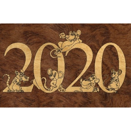 Laser Cut New Year 2020 Template Free CDR Vectors Art