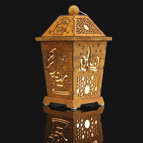 Laser Cut Wooden Ramadan Lantern Gifts Free CDR Vectors Art