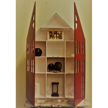 Laser Cut Shelf With Door Home Decor Idea Free CDR Vectors Art