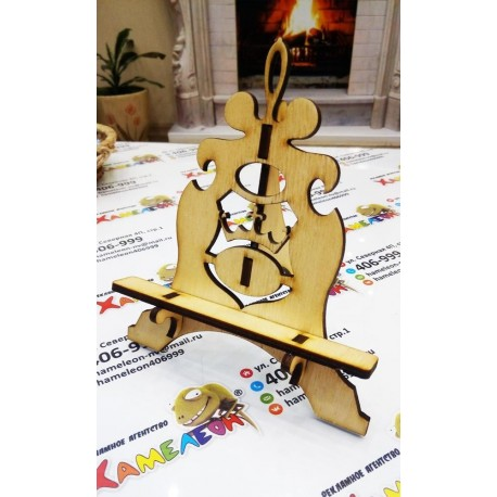 Laser Cut Stand For Phone Or Business Cards Free CDR Vectors Art