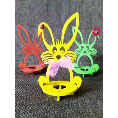 Laser Cut Wooden Easter Bunny Rabbit Free CDR Vectors Art