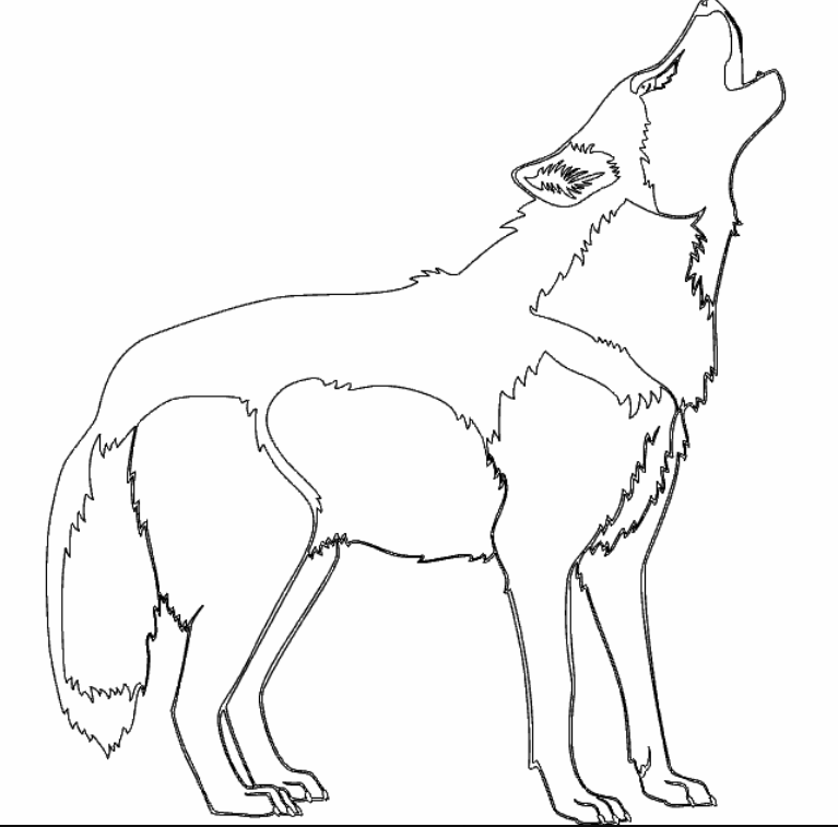 Dog Silhouette File Download Free DXF File