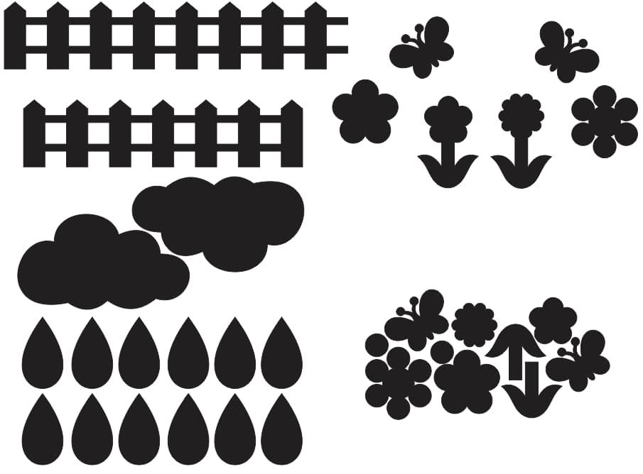 Laser Cutting Files Felt Fence Flowerss Free DXF File