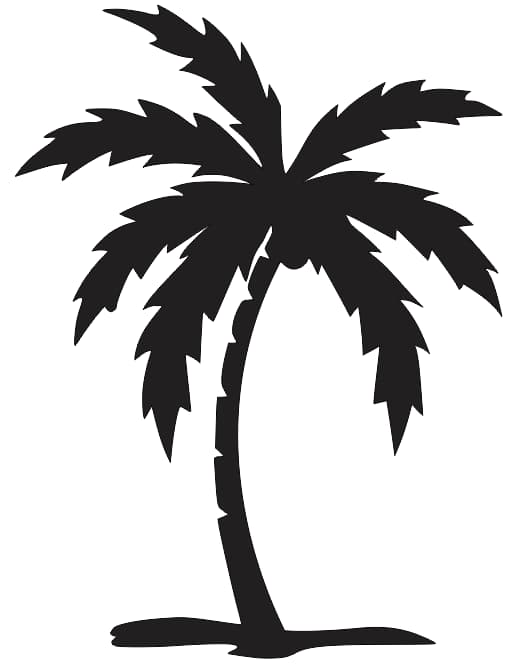 Palm Tree Silhouette Download Free DXF File