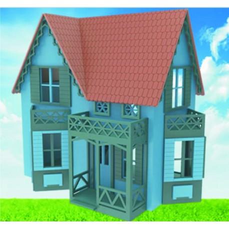 Laser Cut Betsy Hagar Doll House 4mm Free CDR Vectors Art