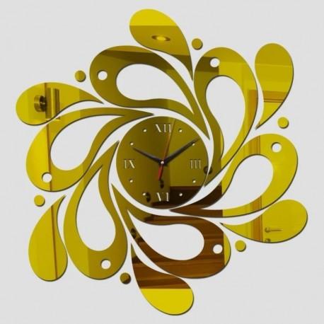 Laser Cut Spiral Wave Wall Clock Free CDR Vectors Art