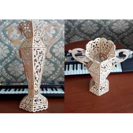 Laser Cut Vase Template Free CDR Vectors Art
