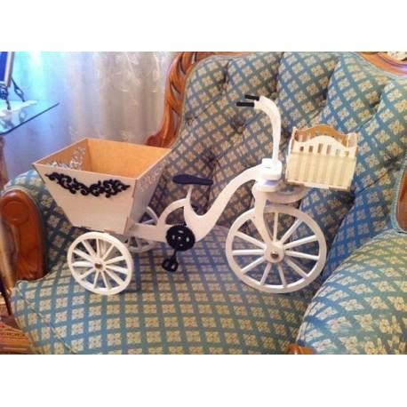 Laser Cut Bike Bicycle With Basket Free CDR Vectors Art