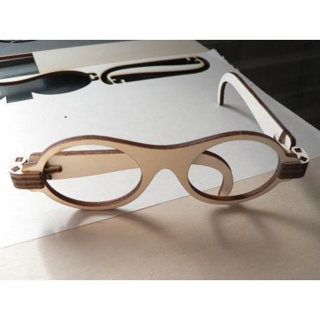Laser Cut Foldable Wooden Glasses Free CDR Vectors Art