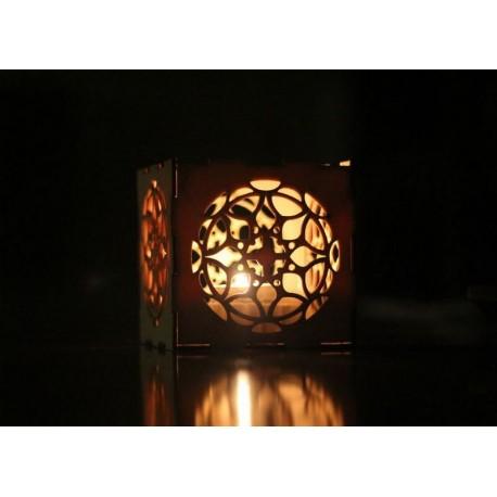 Laser Cut Nightlight Box Lamp Template Free CDR Vectors Art