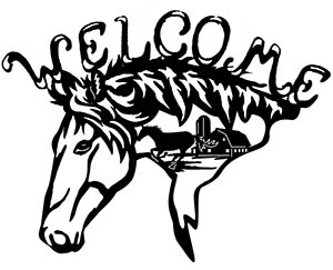 Welcome Horse Head Free DXF File