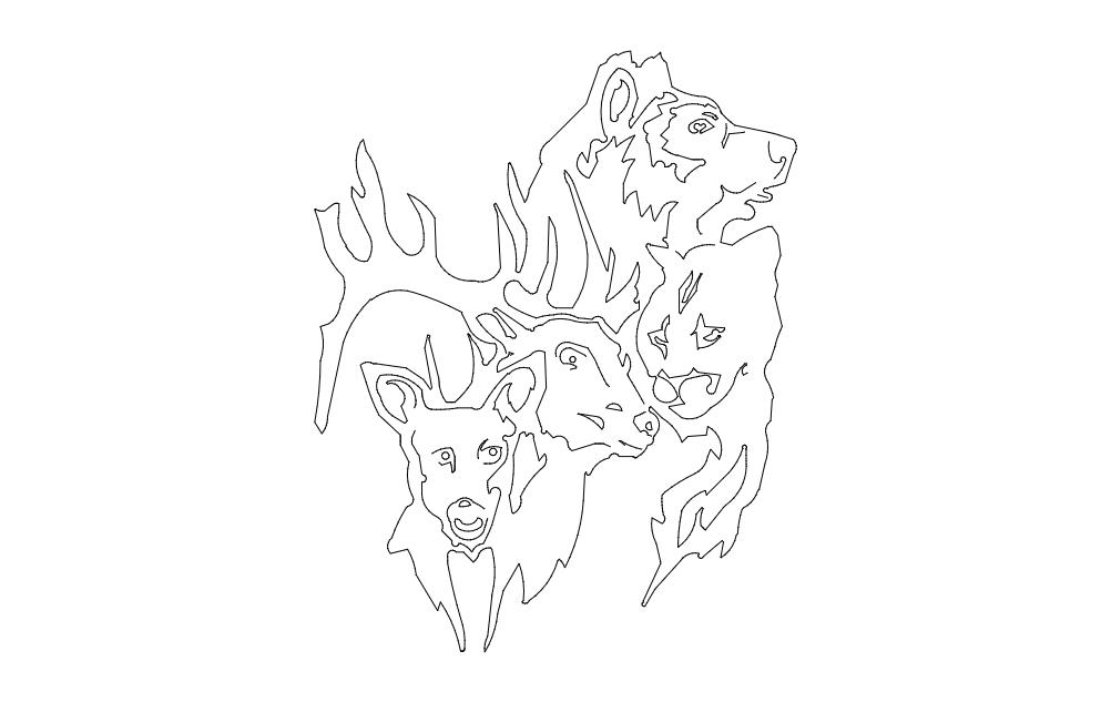 Wild Animals Free DXF File