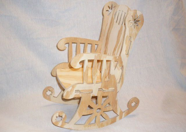 Wooden Rocking Chair Laser Cut Cnc Project Free DXF File