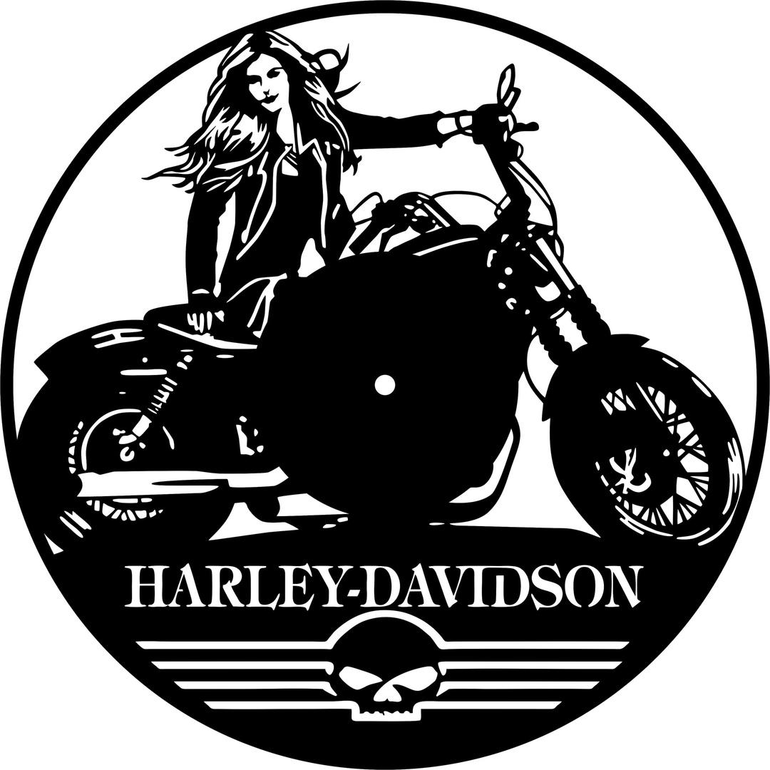 harley-davidson Wall Clock Free DXF File