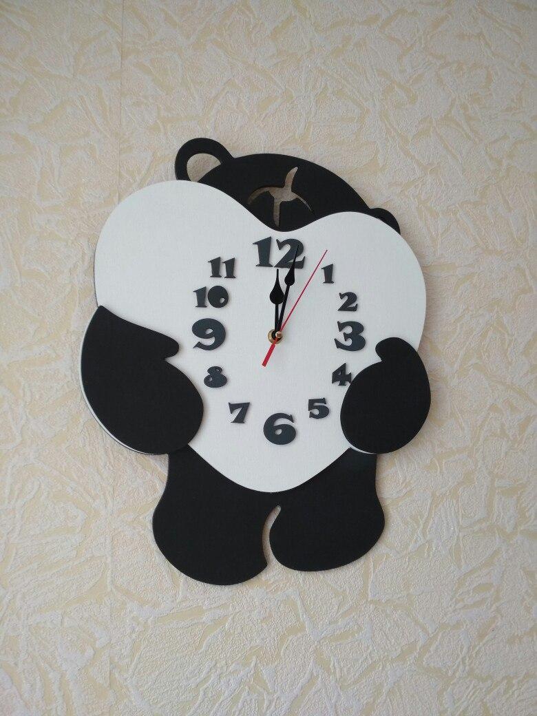 Laser Cut Bear Wall Clock Free DXF File