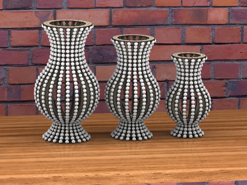 Laser Cutter Vase Project Ideas Free CDR Vectors Art
