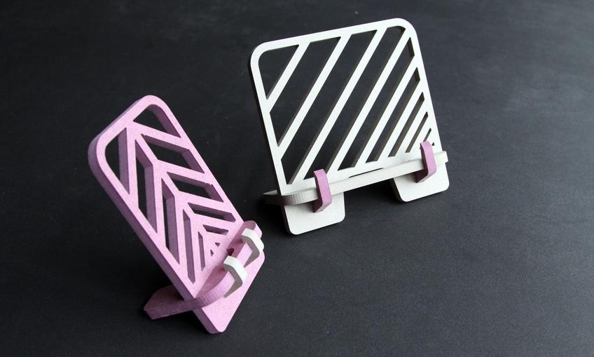 Simple Stand Laser Cut Wood Free CDR Vectors Art