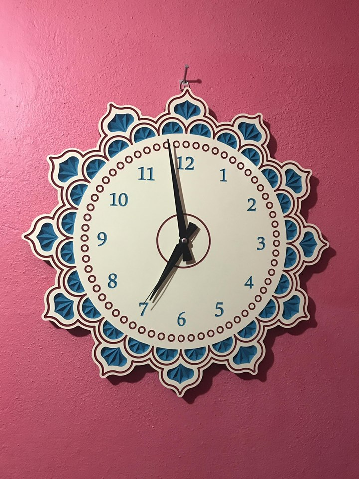Wooden Clock Plans For Laser Router Cutting Free CDR Vectors Art