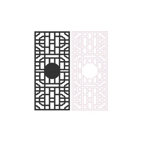 Black Hollow Partition panel Free DXF File