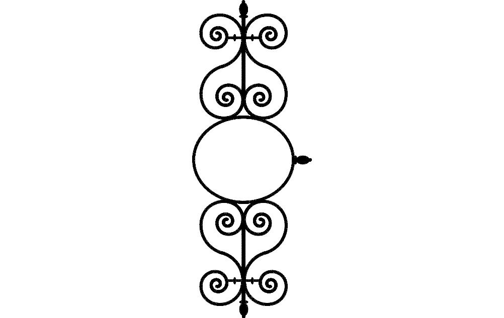 Ironwork Pattern Free DXF File