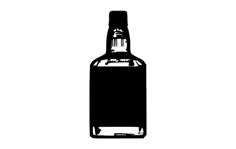 Jd Bottle Free DXF File