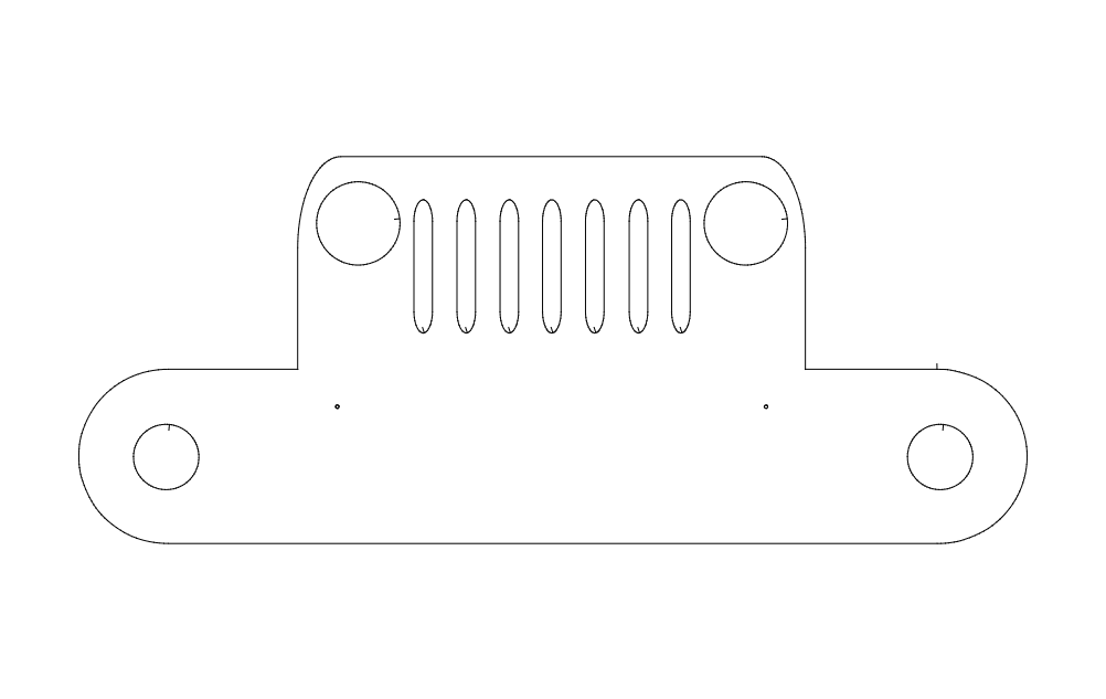 Jeep Towel Holder Free DXF File