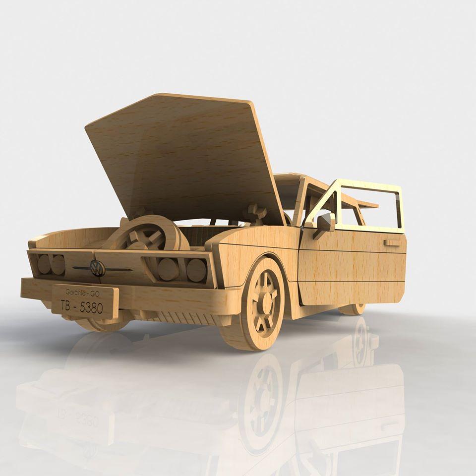 Amazing Wooden Car Diy 3d Puzle Laser Cut Free CDR Vectors Art