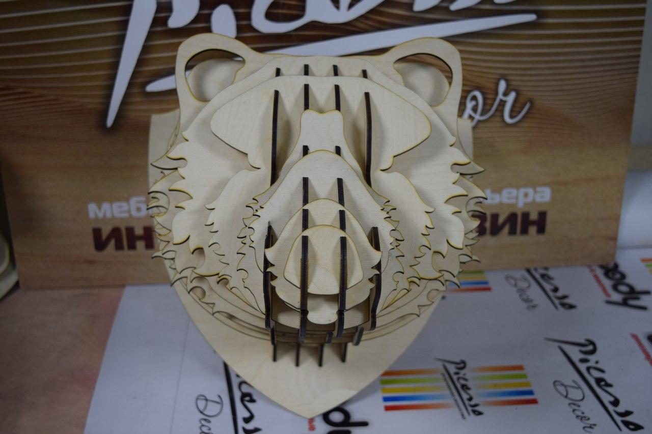 Bear Animal Head Diy 3d Puzzle Free CDR Vectors Art