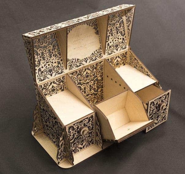 Laser Cut Beautiful Wooden Box Plan Free CDR Vectors Art