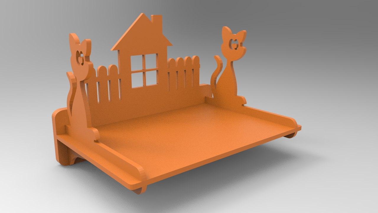 3d Puzzle cat-polka Self Laser Cutting Project Free DXF File