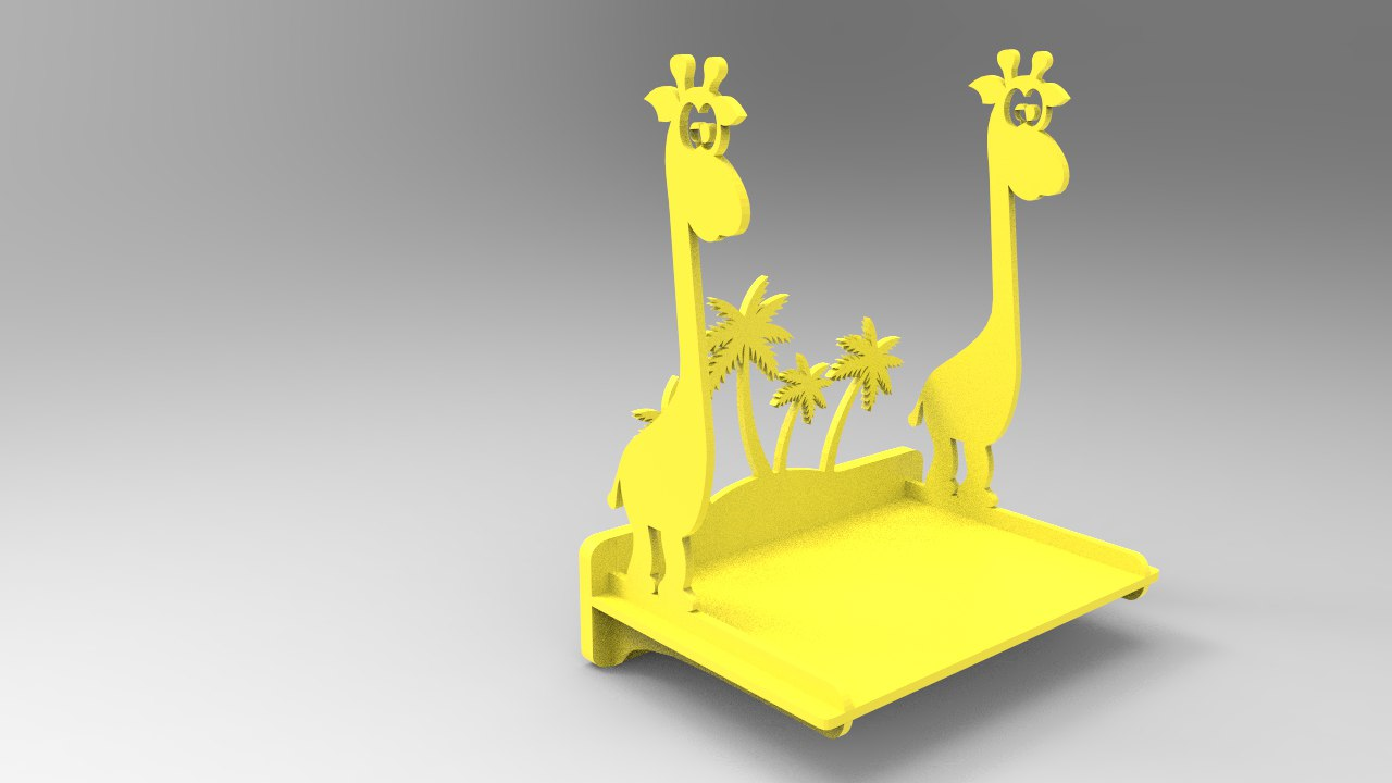 3d Puzzle Shelf Giraffe Laser Cutting Projects Free DXF File