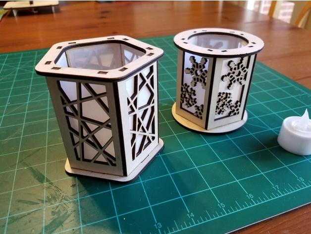 Candle Holder Lantern Laser Cut Ideas Download Free DXF File