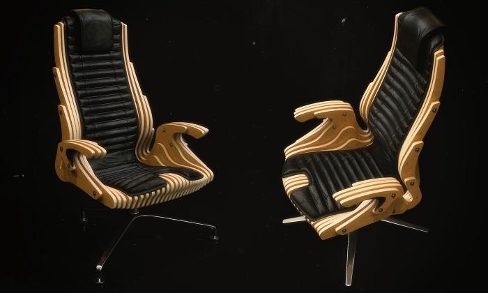 Chair Parametric Design Laser Cut Cnc Router Free DXF File