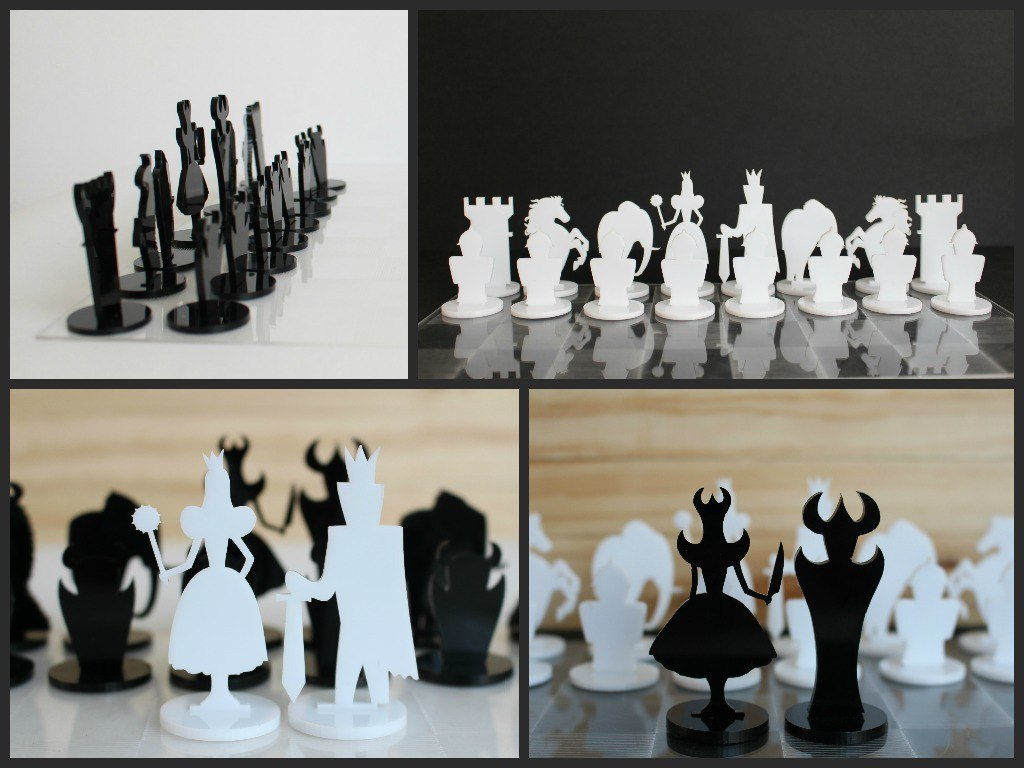 Cnc Chess Set Plans Laser Cut Free DXF File