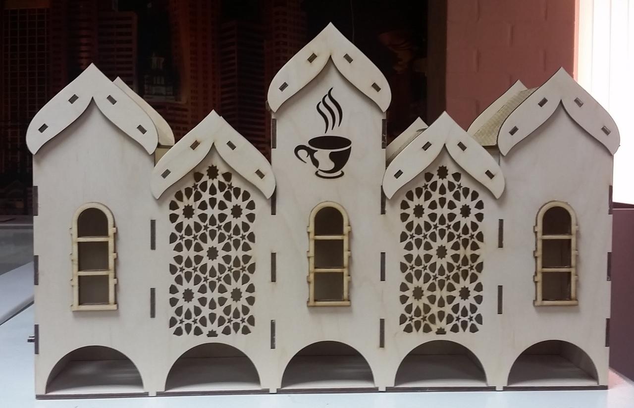 Decorative Tea House Laser Cut 3d Puzzle Project Free DXF File
