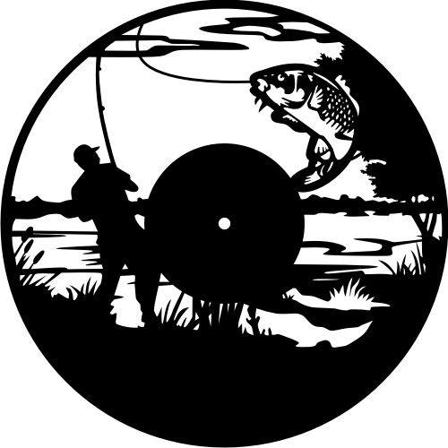 Fishing Clock Download Free DXF File