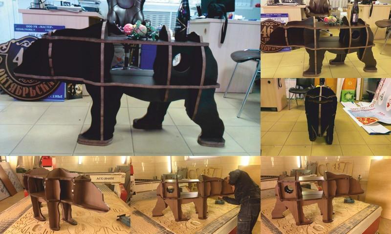 Bear Bookshelf Laser Cut Cnc Router 3d Puzzle Free CDR Vectors Art