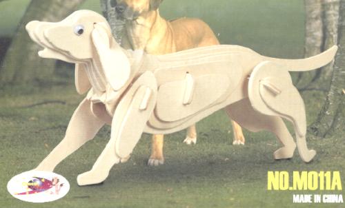 Dog 3d Puzzle CNC Laser Cut Free CDR Vectors Art