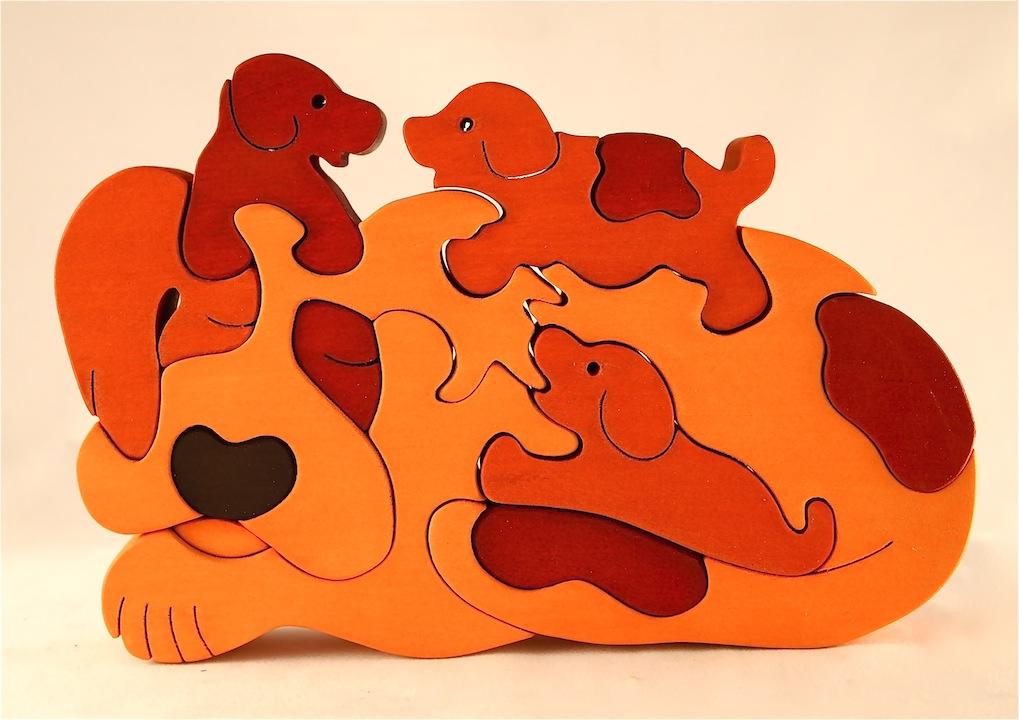 Dog Jigsaw Puzzle Kids Puzzle Game Laser Cut Cnc Free CDR Vectors Art