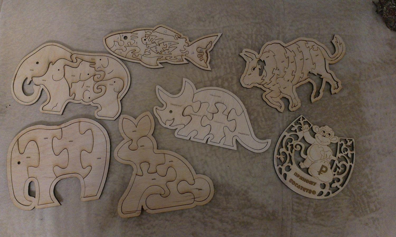 Laser Cut Animals Jigsaw Puzzle Toys Free CDR Vectors Art