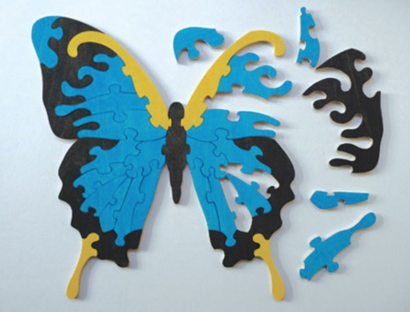 Laser Cut Butterfly Jigsaw Puzzle For Kids Template Free CDR Vectors Art