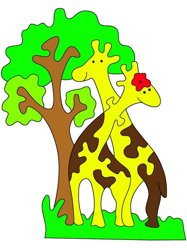 Laser Cut Giraffe Jigsaw Puzzle Free CDR Vectors Art