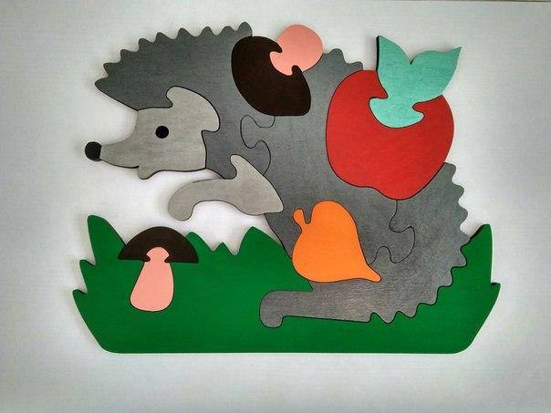 Laser Cut Hedgehog Jigsaw Puzzle Game For Kids Free CDR Vectors Art