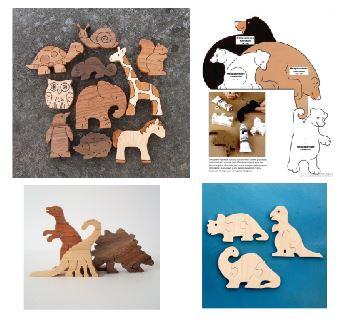 Laser Cut Jigsaw Puzzle Toys Free CDR Vectors Art