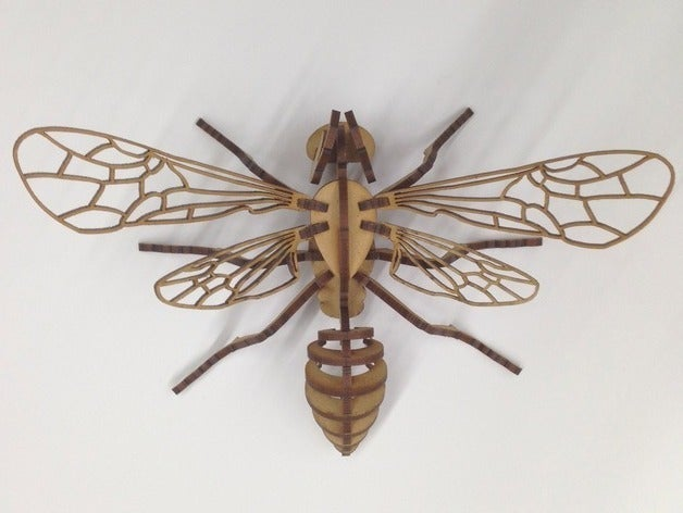 Laser Cut Bee Puzzle 3mm Acrylic Plywood Free DXF File