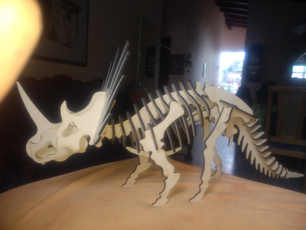 Laser Cut Styracosaurus 3d Puzzle Free DXF File