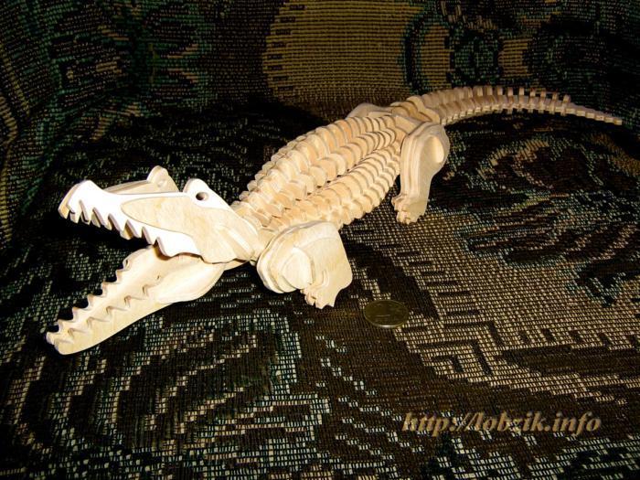 Laser Cut Crocodile 3d Puzzle Free CDR Vectors Art